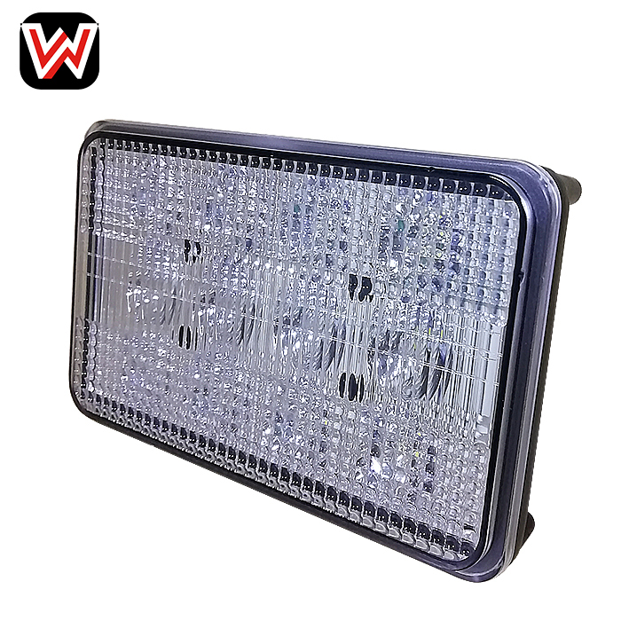Square Agriculture Machine Light 60W LED Headlights High Low Beam 6x4 Cube LED Work Light