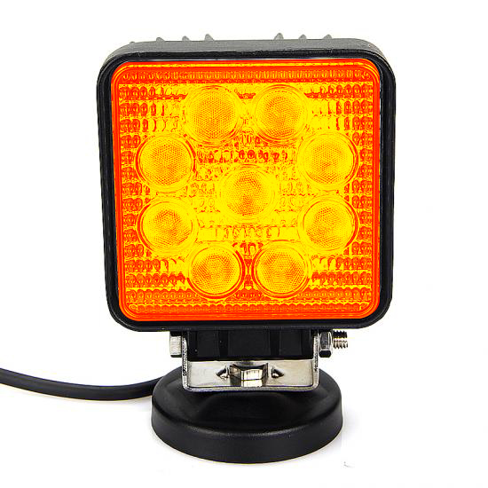 27w Amber led driving work lamp square/round led working light