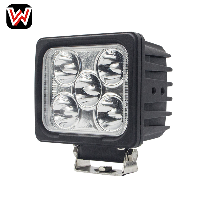 Heavy duty square 50w offroad tractor bus train led work lighting