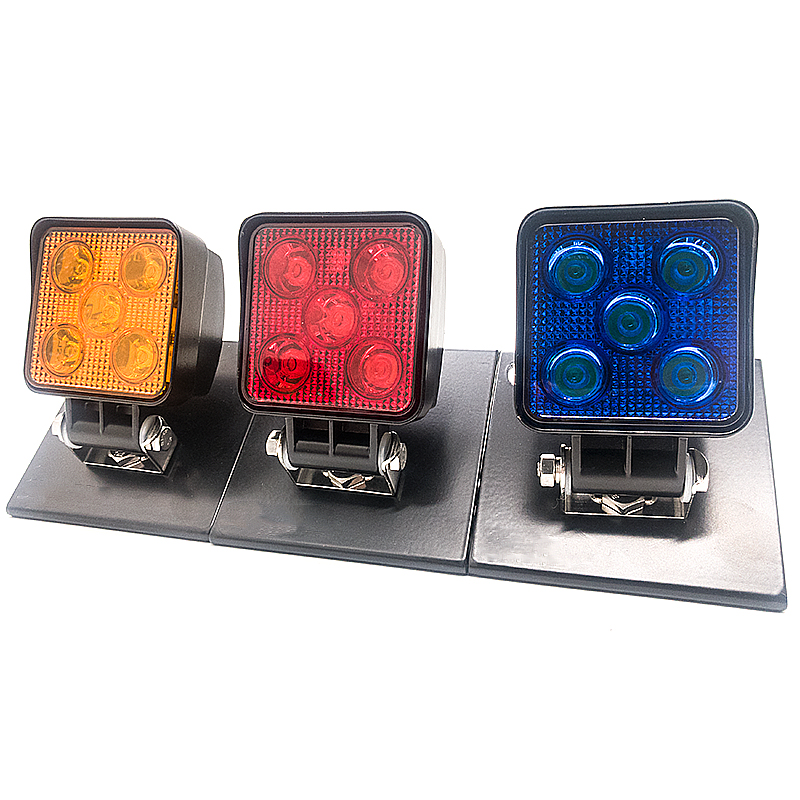 hot sale 10-30v amber flashing light 4 inch 15w led work warning light